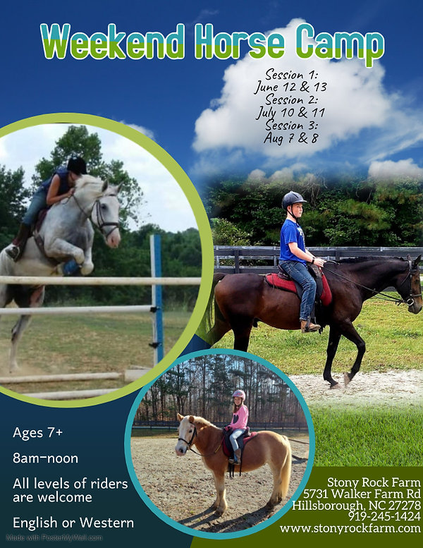 Weekend Horse Camp - Made with PosterMyW