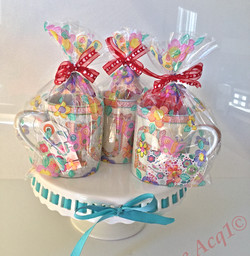 Party Gift Cups filled with goodies