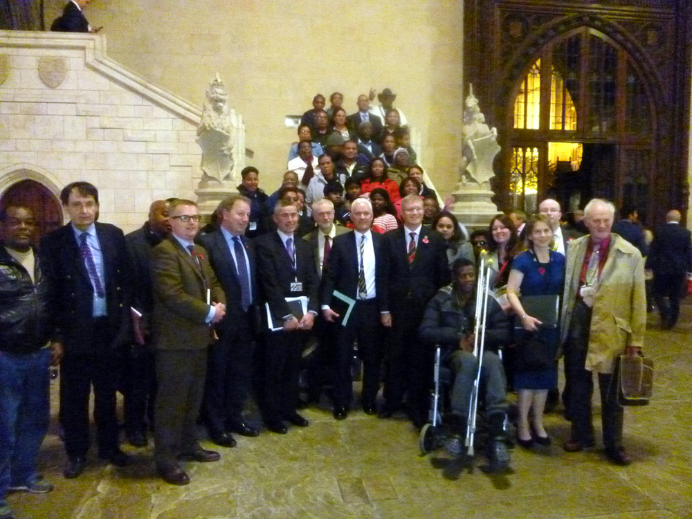 Chagossians, UK Chagos Support volunteers and supportive MPs at a debate our volunteers helped organise in Parliament
