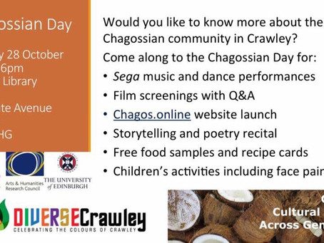 CHAGOS community project website launches this Saturday