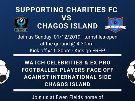Chagos Football team to play celebs & ex-pros this Sunday
