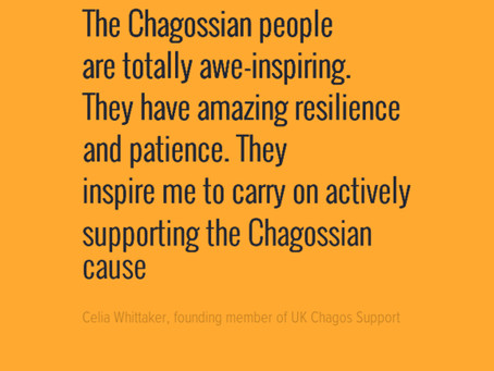 Guest Blog: Celia Whittaker, founding member of UK Chagos Support Association