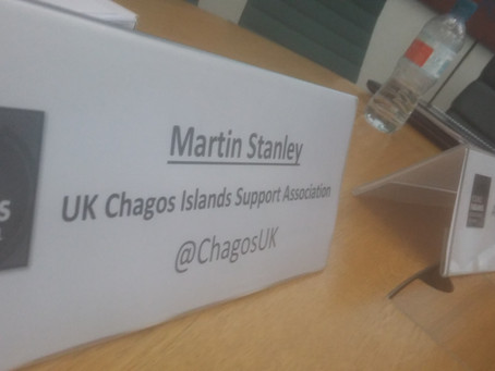 Resettled Chagos as model Overseas Territory: Young Fabians Event with Labour Shadow Minister