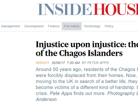Injustice Upon Injustice: Inside Housing feature on Chagossian housing issues in Crawley