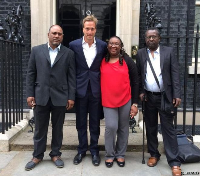 Sabrina Jean with Ben Fogle outside 10 Downing Street