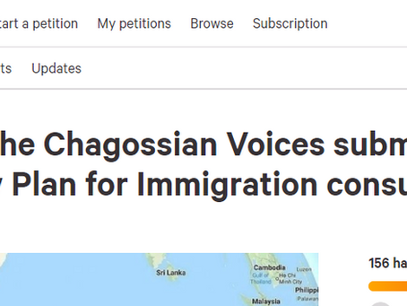 New petition calls for British Citizenship rights for all Chagossians