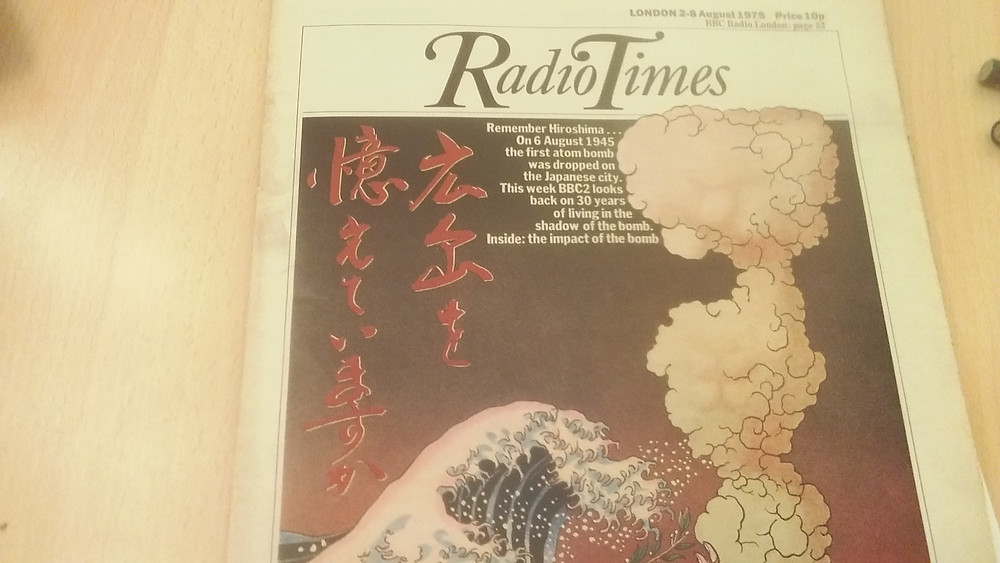 The cover of the magazine, with an illustration representing the 30th anniversary of the Hirsoshama bomb