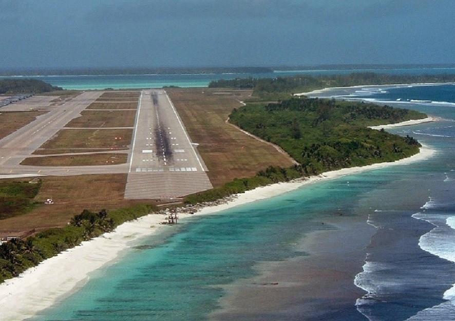 Image of US military base on Diego Garcia