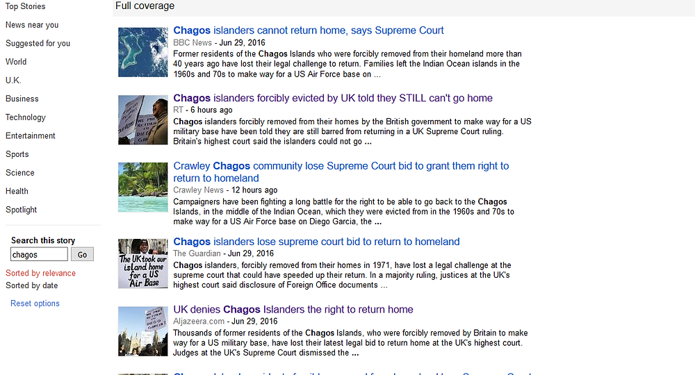 A Google news search shows the volume of coverage the case recieved, even admist one of the busiest weeks in current affairs in recent memory