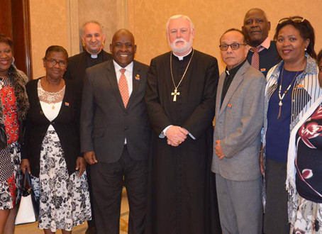 Chagossians visit the Vatican to meet Pope Francis