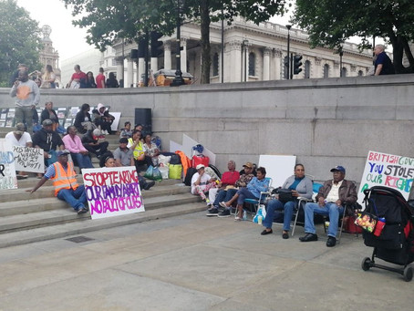 Chagossians occupy Trafalgar Square