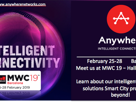 Anywhere Networks exhibits at MWC 2019