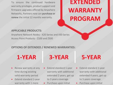 Anywhere Networks Extended Warranty Program
