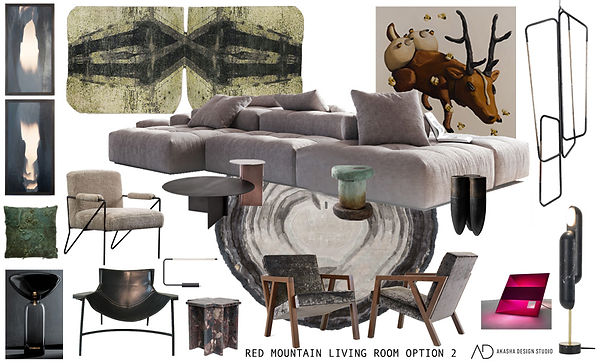 Red Mountain Living Room Option Two