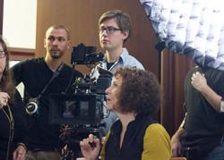 Shooting interviews in Hamburg