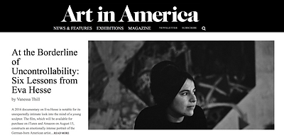 eva hesse, art in ameica, documentary, women artists