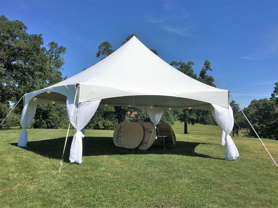 40' Hexagon High Peak tent rentals