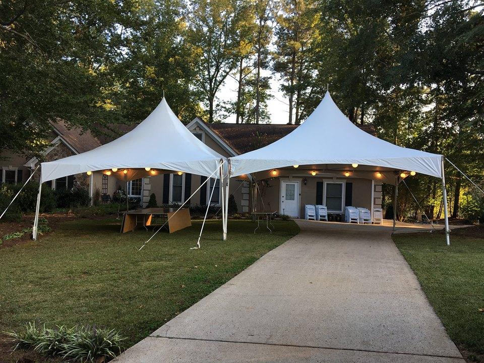 2 - 20'x20' High Peak Tent Rentals