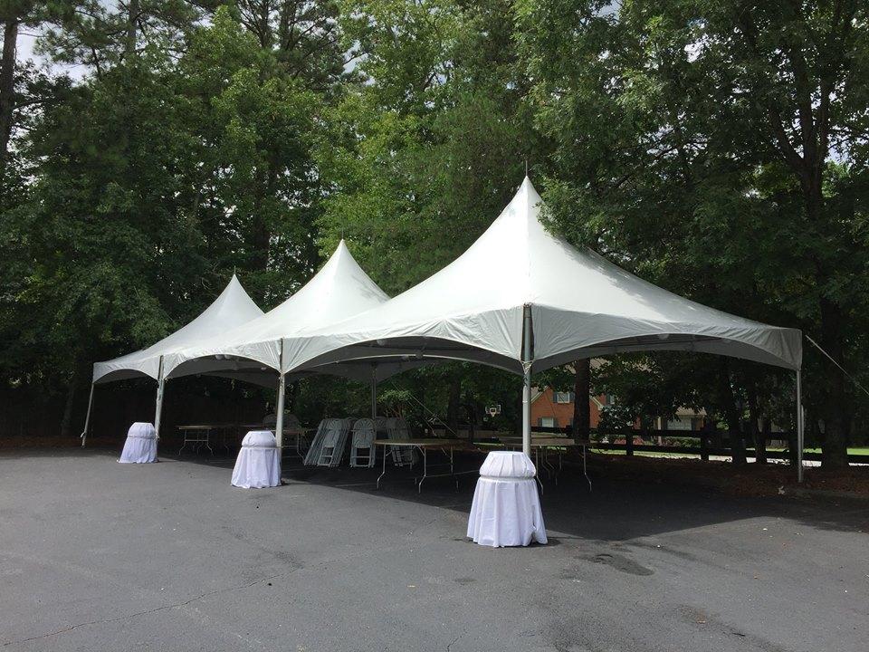 3 - 20'x20' High Peak Tent Rentals
