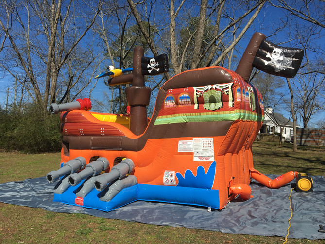 Avast ye scurvy dogs...The Pirate Ship Bounce House