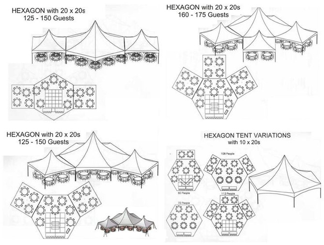 High Peak Hex Tent Combinations-A Great Option for your Wedding or Event