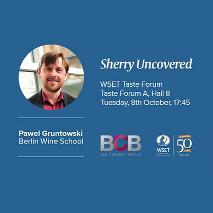 Sherry uncovered - 08 October 2019