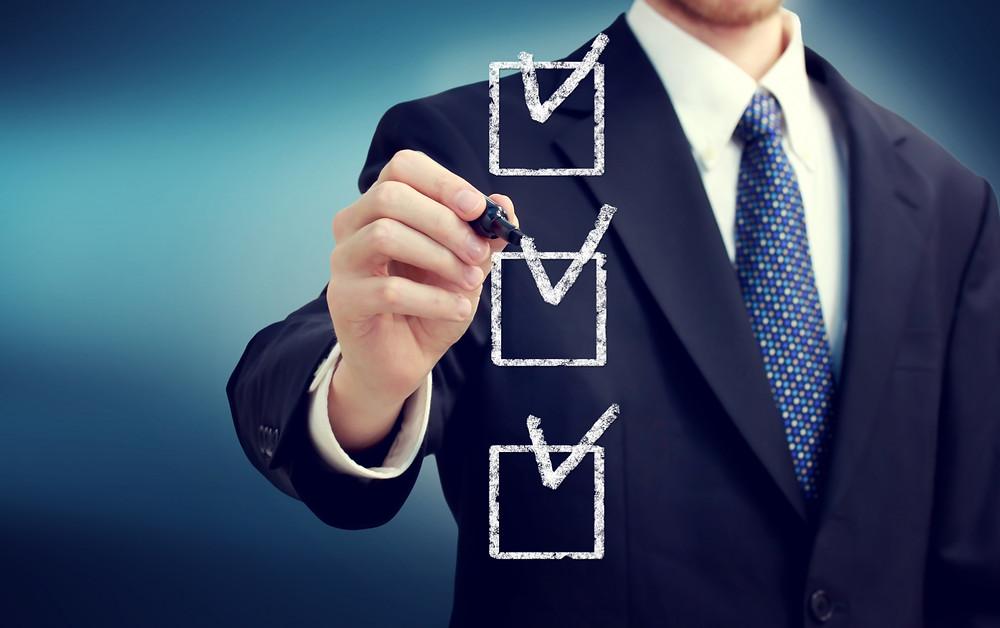 checklist mudanças