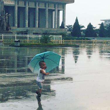 Rainy Tiananmen Square, Beijing