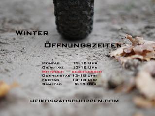Winteröffnungszeiten November - Februar