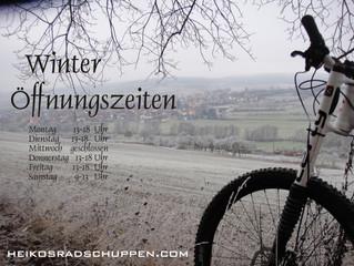 Zeitumstellung in Heiko´s Radschuppen geänderte Öffnungszeiten