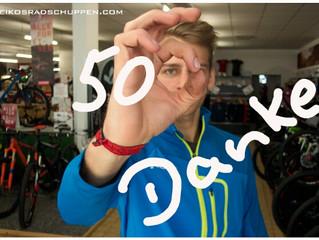 DAnKE für 500 Daumen bei Facebook !
