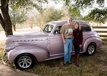 1940 Chevy Master, two door Don and Jan