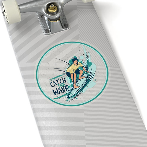 Catch the Wave Kiss-Cut Sticker