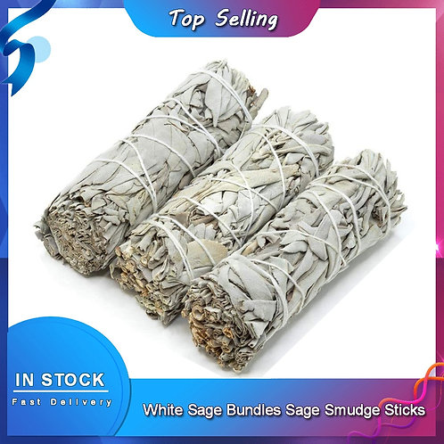 White Sage Bundle Smudge Sticks for Home Cleansing Healing Meditation Rituals