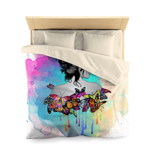 Butterfly Woman Microfiber Duvet Cover