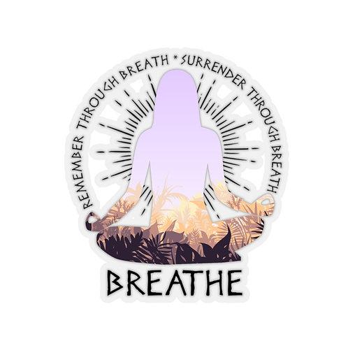 Breathe Kiss-Cut Sticker
