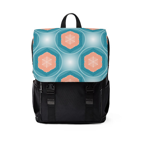 Flower of Life Unisex Casual Shoulder Backpack