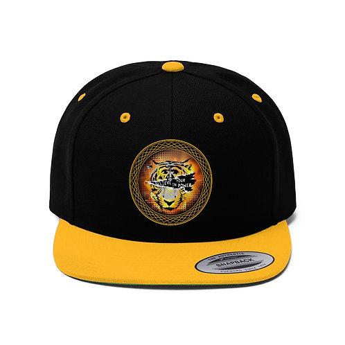 Tiger Eye Unisex Flat Bill Hat