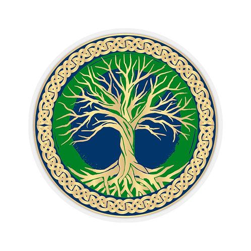 Peace Tree of Life Kiss-Cut Sticker