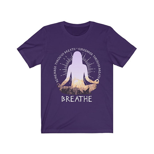 Remember Through Breath Unisex Jersey Short Sleeve Tee
