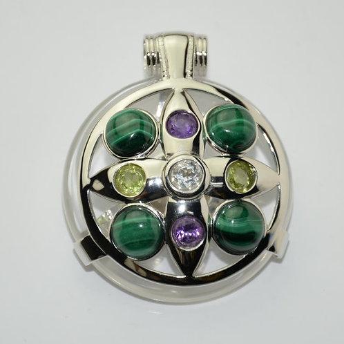 Malachite Ailm Amulet
