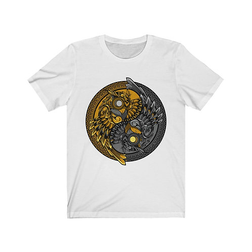 Cosmic Owls Gold/Silver Unisex Jersey Short Sleeve Tee