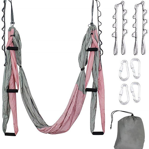 Aerial Yoga Hammock Set Antigravity Yoga Swing Ultra Strong - 2 Extension Straps