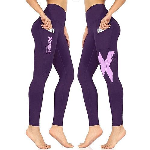 """Xtreme"" Double Sided Leggings - Purple/Lavender X"