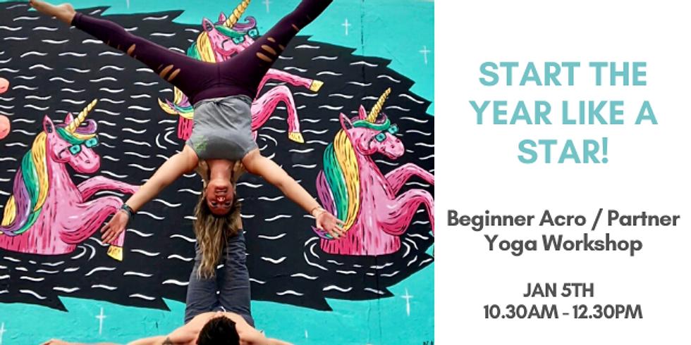 """Partner Acro yoga for beginner """"All Star Workshop"""""""