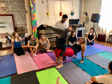 "Beginner  ""Inversion on Body Parts"" Acro Workshop"