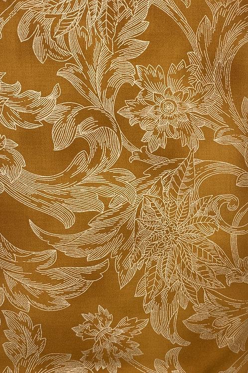 White Flowers on Orange Background