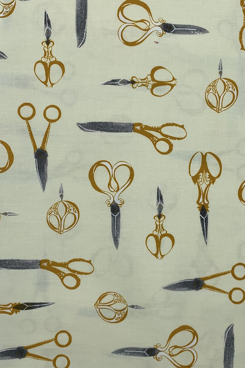 Yellow Craft Scissor Fabric