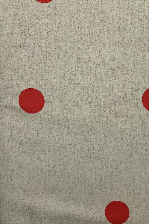 Tan fabric with red pokadots