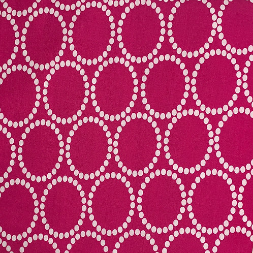 Bright Pink with White Circles